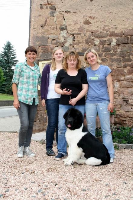 Ginger con la sua famiglia