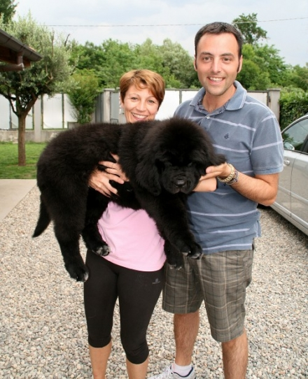 Lara e Davide con Lulu
