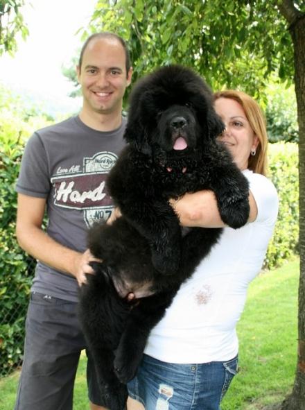 Jackie con Eleonora e Luca